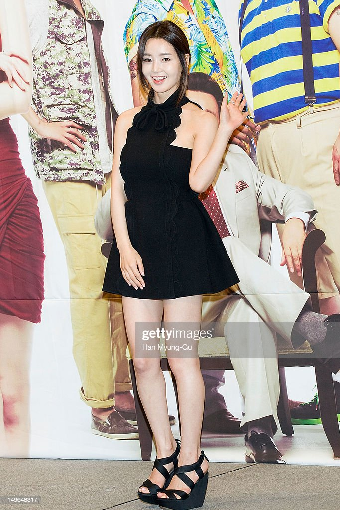 South Korean actress Nam GyuRi attends during a press conference to promote the KBS drama 'Haeundae Lovers' at Imperial Palace Hotel on August 01...