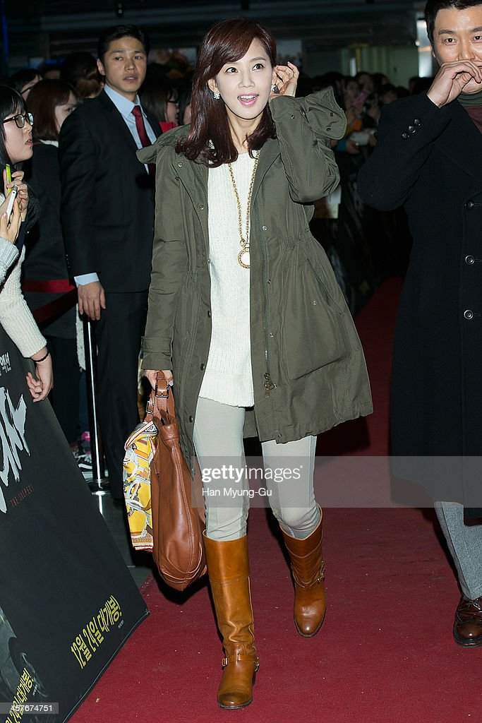 South Korean actress Oh Hyun-Kyung attends 'The Suspect' VIP screening at COEX Mega Box on December 17, 2013 in Seoul, South Korea. The film will open on December 24, in South Korea.