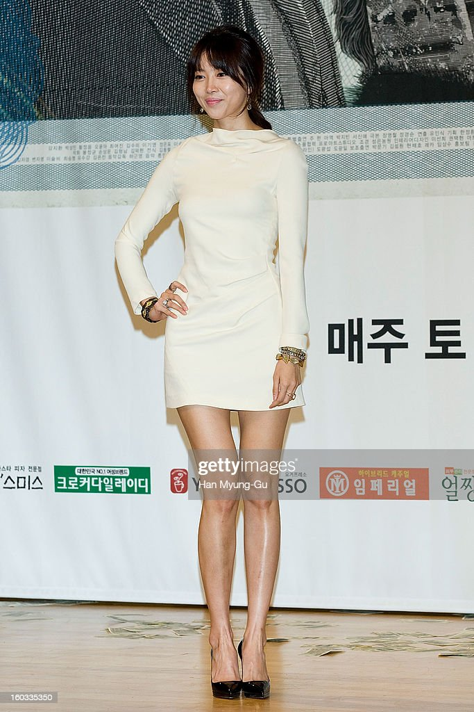 South Korean actress Oh Yoon-Ah attends the SBS Drama 'Incarnation Of Money' Press Conference at SBS on January 29, 2013 in Seoul, South Korea. The movie will open on February 02 in South Korea.