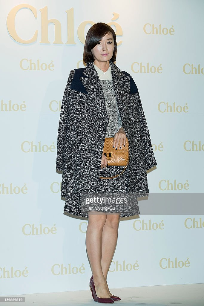 South Korean actress Oh Yun-Soo attends 'Chloe' flagship store grand opening event at Chloe Gangnam Store on November 1, 2013 in Seoul, South Korea.