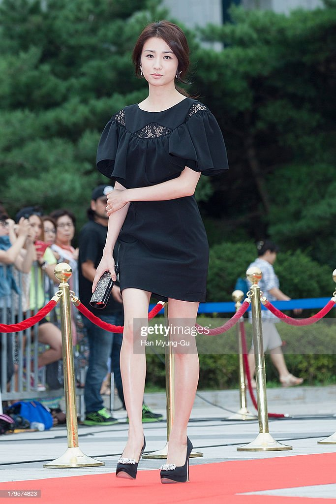 South Korean actress Park Ha-Sun arrives for photographs at the Seoul International Drama Awards 2013 at National Theater on September 5, 2013 in Seoul, South Korea.