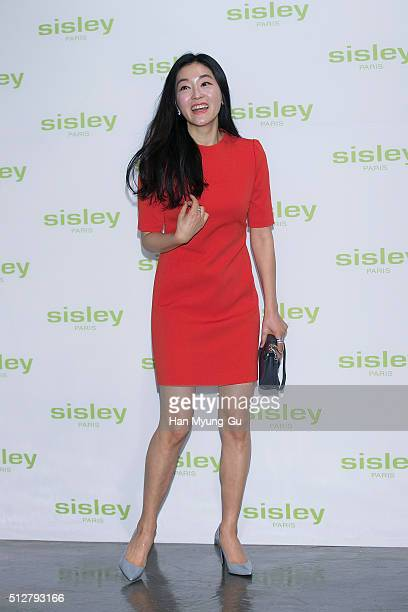 South Korean actress Park JinHee attends the launch party for Sisley 'SISLEYA L'Integral AntiAge' on February 25 2016 in Seoul South Korea