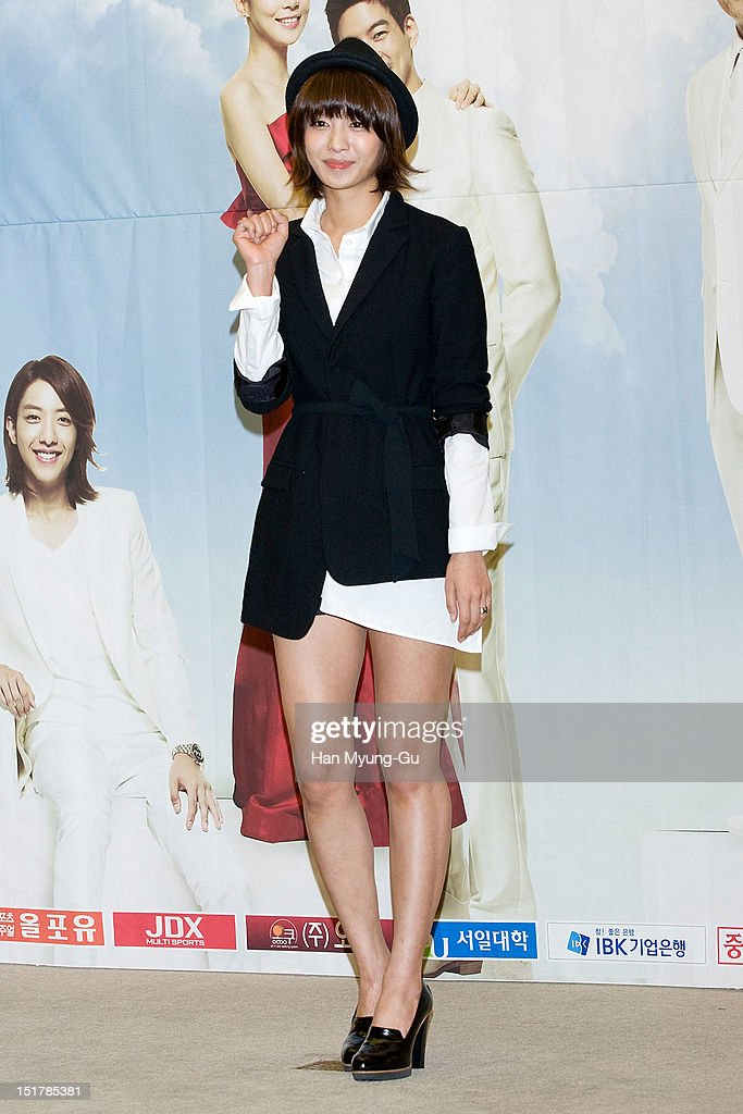 South Korean actress Park Jung-Ah attends during a press conference to promote the KBS drama 'My Daughter, Seoyoung' on September 11, 2012 in Seoul, South Korea. The drama will open on September 15 in South Korea.