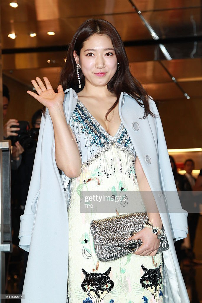South Korean actress Park Shin-Hye attends Miu Miu New Store opening ceremony on Wednesday January 8,2013 in Hong Kong,China.