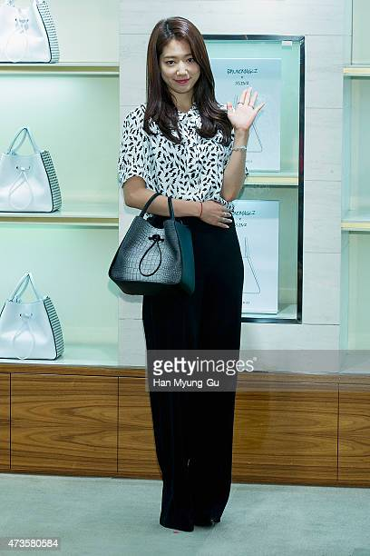 South Korean actress Park ShinHye attends the autograph session for Bruno Magli on May 15 2015 in Seoul South Korea