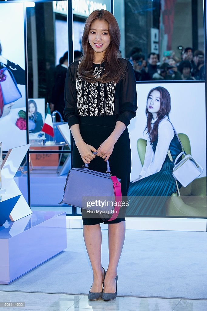 South Korean actress Park ShinHye attends the autograph session for Bruno Magli at Lotte Department Store on December 12 2015 in Busan South Korea