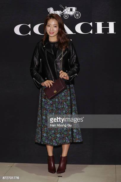 South Korean actress Park ShinHye attends the COACH Photocall on November 10 2017 in Seoul South Korea