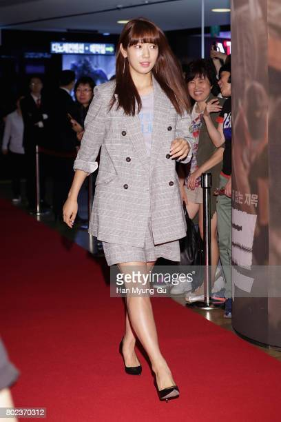 South Korean actress Park ShinHye attends the VIP screening of 'Real' on June 27 2017 in Seoul South Korea