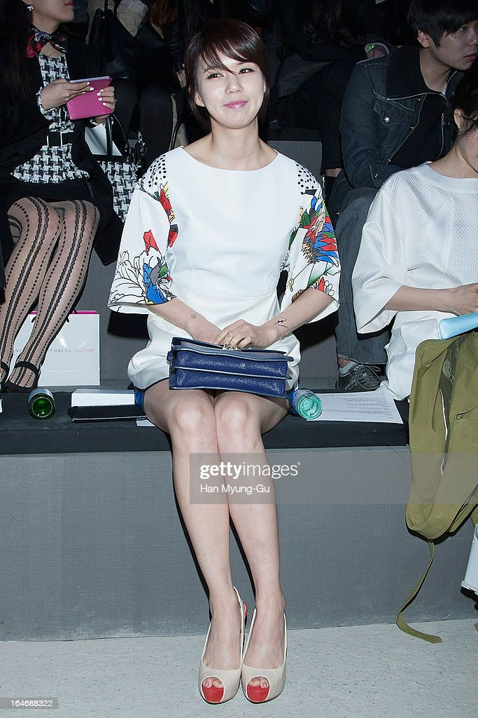 South Korean actress Park Si-Eun attends the 'KAAL E SUKTAE' show on day two of the Seoul Fashion Week F/W 2013 at IFC Seoul on March 26, 2013 in Seoul, South Korea.