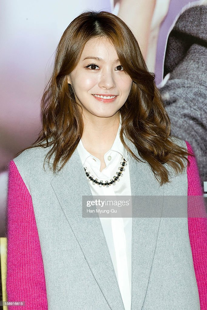 South Korean actress Ryoo In-Young (Ryu In-Young) attends the 'My Little Hero' VIP Screening at CGV on January 3, 2013 in Seoul, South Korea. The film will open on January 09 in South Korea.
