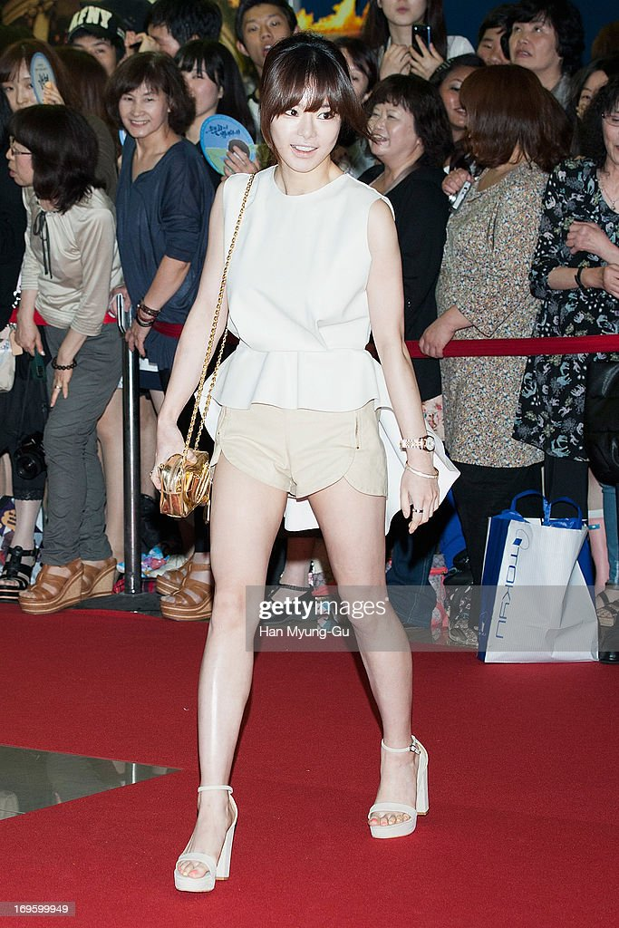 South Korean actress Seo Woo attends the 'Secretly Greatly' VIP Screening at Mega Box on May 27 2013 in Seoul South Korea The film will open on June...