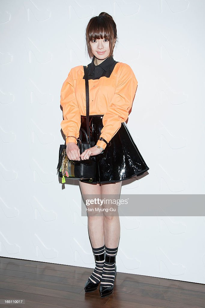 South Korean actress Seo Woo attends the 'Suecomma Bonnie' 10th Anniversary Exhibition at Conrad Hotel on March 29, 2013 in Seoul, South Korea.