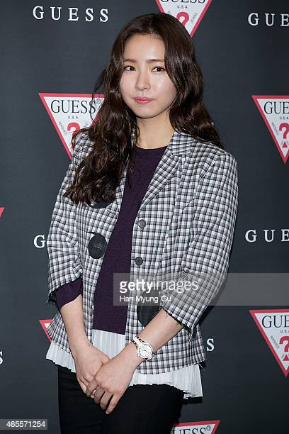 South Korean actress Shin SeGyeong attends the autograph session for Guess Watch at COEX Mall on March 7 2015 in Seoul South Korea
