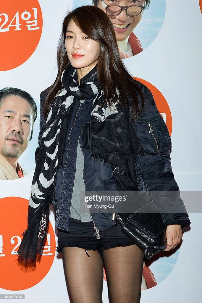 South Korean actress & singer Ga-Hee (Kahi, Park Ji-Young) attends the 'Miracle In Cell No.7' VIP Screening at Mega Box on January 14, 2013 in Seoul, South Korea.