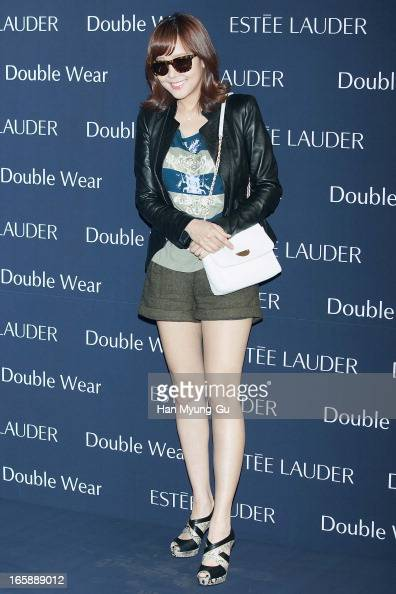South Korean actress So YooJin attends the 'Estee Lauder' Double Wear Lounge opening at Coffee Smith on April 5 2013 in Seoul South Korea