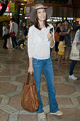 South Korean actress Son TaeYoung is seen on departure at Gimpo International Airport on August 23 2013 in Seoul South Korea