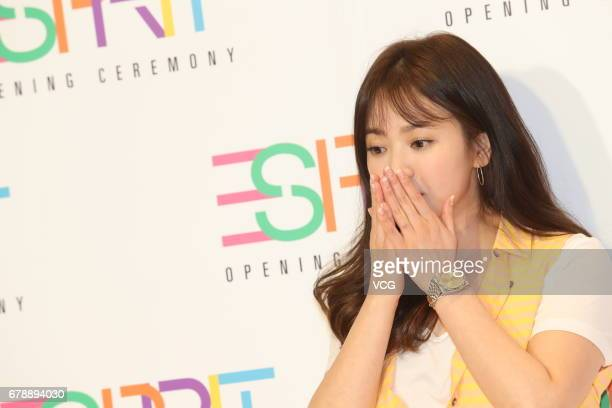 South Korean actress Song Hyekyo attends Esprit store opening ceremony on May 4 2017 in Hong Kong Hong Kong