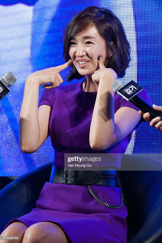 South Korean actress <a gi-track='captionPersonalityLinkClicked' href=/galleries/search?phrase=Soo+Ae&family=editorial&specificpeople=4357965 ng-click='$event.stopPropagation()'>Soo Ae</a> attends during 'the Flu' Music Showcase at Platoon Kunsthalle on July 22, 2013 in Seoul, South Korea. The film will open on August 15 in South Korea.
