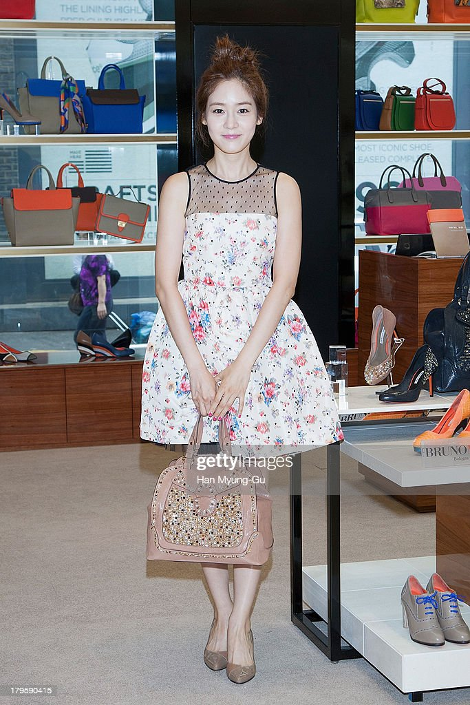 South Korean actress Sung YouRi attends 'Bruno Magli' Atelier Gangnam Store grand opening on September 5 2013 in Seoul South Korea