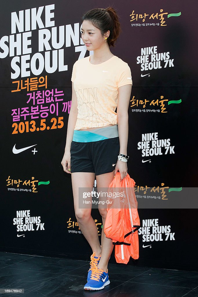 South Korean actress Uhm Hyun-Kyung attends a promotional event for the 'Nike She Runs Seoul 7K' on May 25, 2013 in Seoul, South Korea.