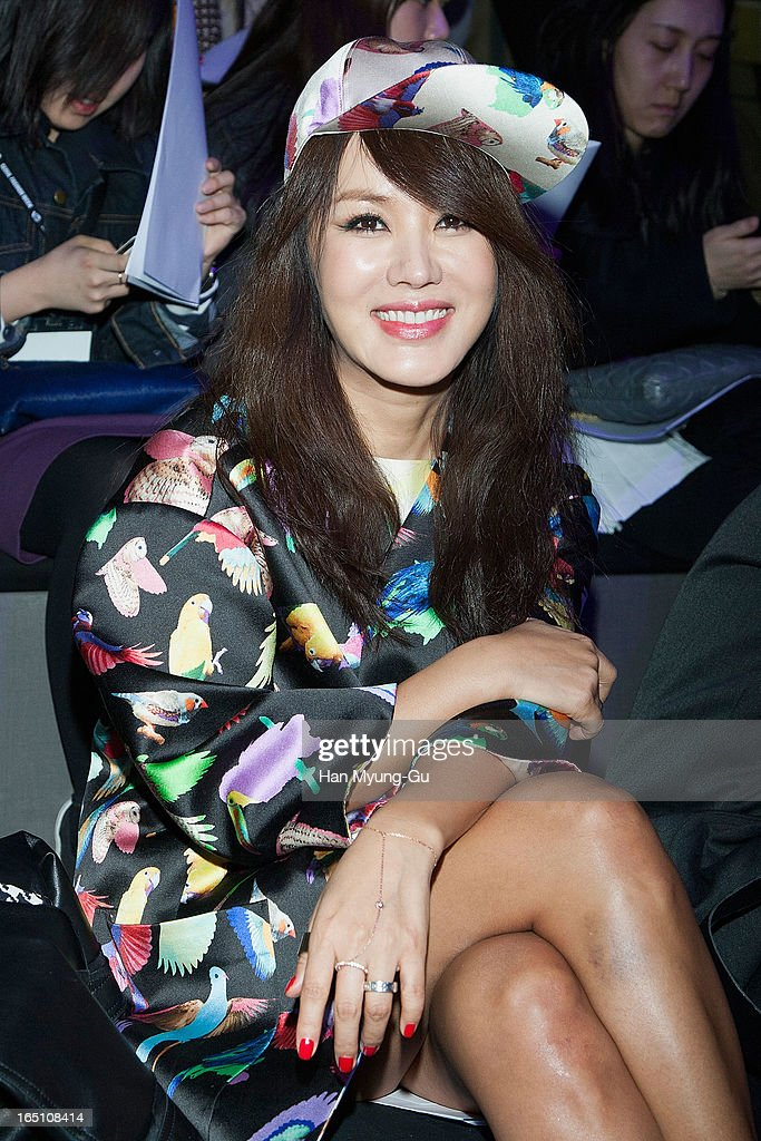 South Korean actress Uhm Jung-Hwa attends the 'Jardin De Chouette' Collection on March 29, 2013 in Seoul, South Korea.