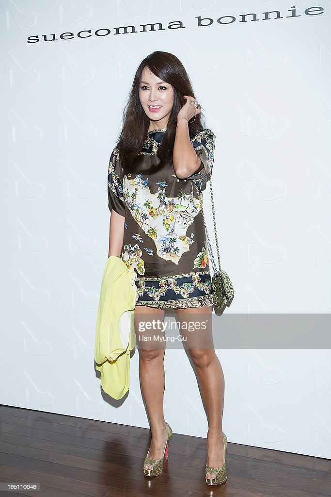 South Korean actress Uhm Jung-Hwa attends the 'Suecomma Bonnie' 10th Anniversary Exhibition at Conrad Hotel on March 29, 2013 in Seoul, South Korea.