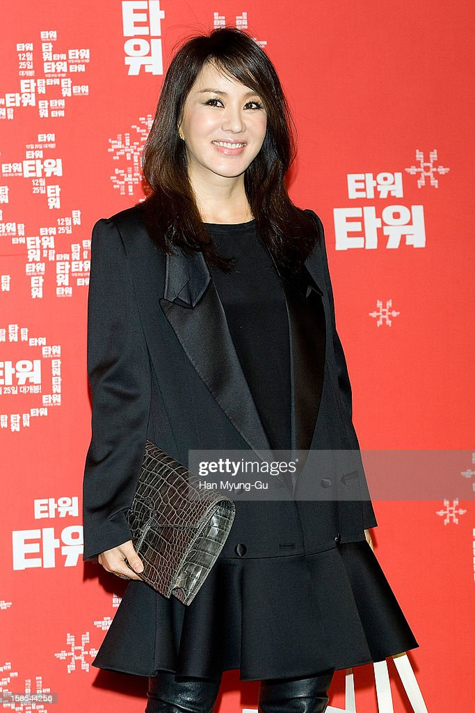 South Korean actress Uhm Jung-Hwa attends the 'Tower' VIP Screening at CGV on December 18, 2012 in Seoul, South Korea. The film will open on December 25 in South Korea.
