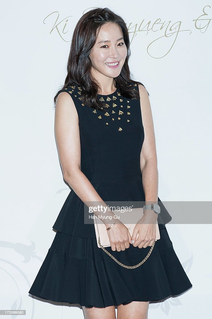 South Korean actress Um Jee-Won (Um Ji-Won) attends during the wedding of Ki Sung-Yueng of Swansea City at COEX Intercontinental Hotel on July 1, 2013 in Seoul, South Korea.