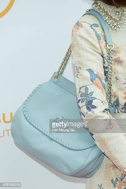 South Korean actress Wang BitNa attends 'Tory Burch' Eau De Parfum Launching Party at Tory Burch Flagship Store on February 26 2014 in Seoul South...