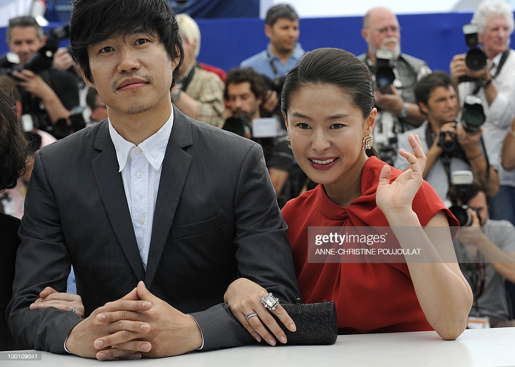 South Korean actress Ye Jiwon (R) and South Korean actor Yu Joonsang pose during the photocall 'Ha Ha Ha' presented in the Un Certain Regard selection at the 63rd Cannes Film Festival on May 21, 2010 in Cannes.