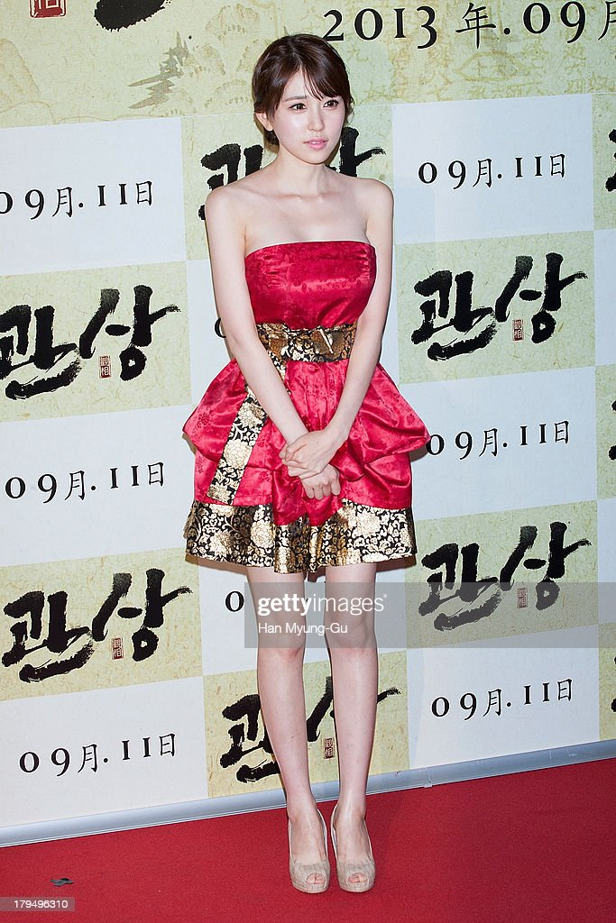 South Korean actress Yoo Sa-Ra attends during 'The Face Reader' VIP screening at the CGV on September 4, 2013 in Seoul, South Korea. The film will open on September 11, in South Korea.