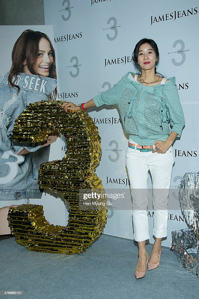 South Korean actress Yoon Hyun-Sook attends the 3 SUM By 'JamesJeans' Launch Party at JamesJeans flagship store on March 6, 2014 in Seoul, South Korea.
