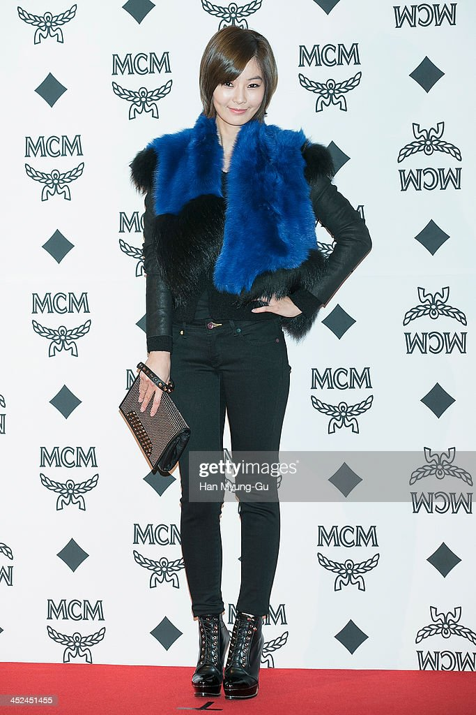 South Korean actress Yoon So-Y (Yun So-Y) attends the MCM S/S 2014 Seoul Fashion Show at Lotte Hotel on November 26, 2013 in Seoul, South Korea.