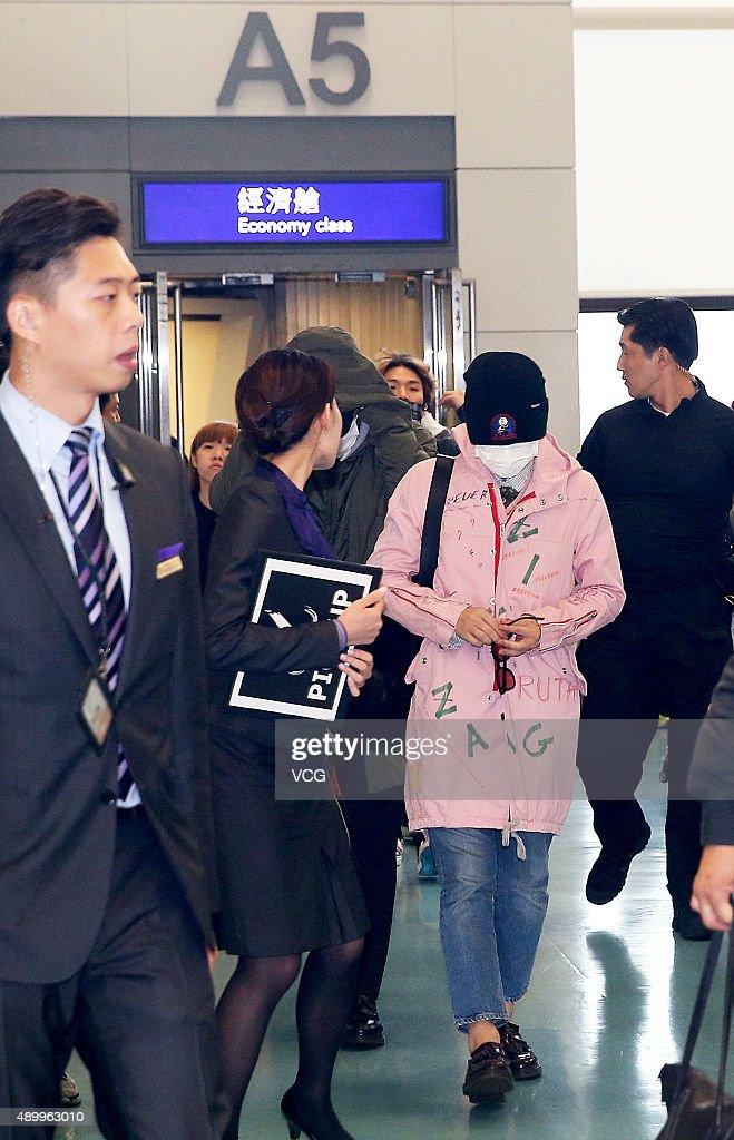 Big Bang Arrive At Airport In Taipei