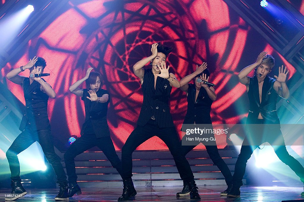 South Korean boy band Dalmatian performs on stage the MBC Music 'Show Champion' at AX Korea on June 19, 2012 in Seoul, South Korea.