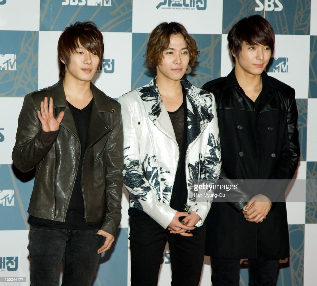 South Korean boy band FTisland attend the 2011 SBS Korea Pop Music Festival at Ilsan Kintex on December 29 2011 in Gyeonggido South Korea