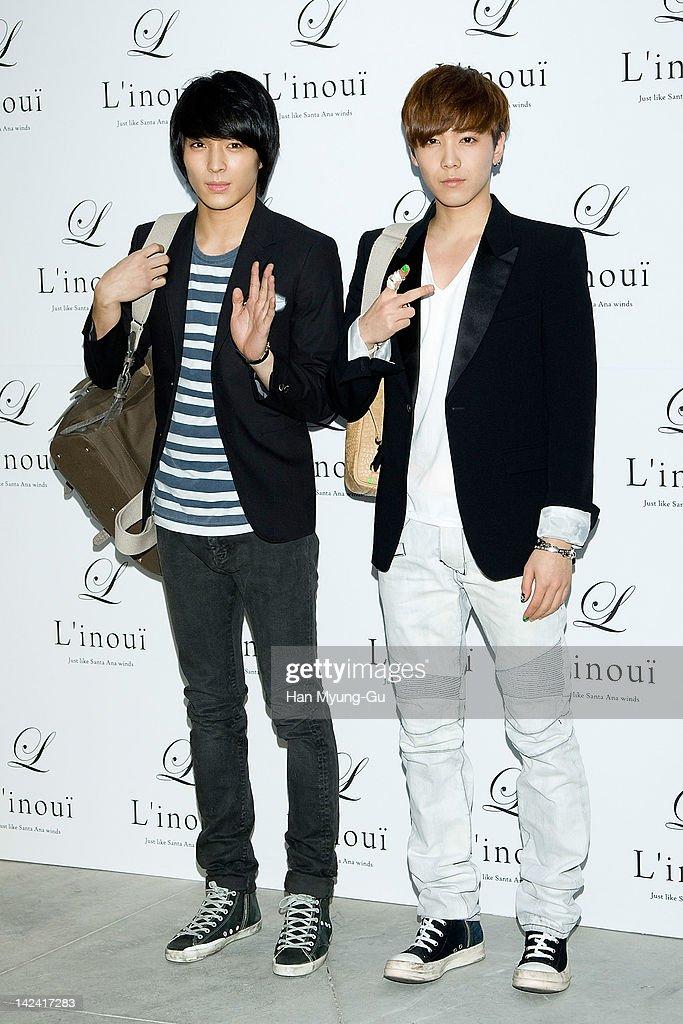 South Korean boy band FTisland attends the L'inoui New Flagship Store Opening at L'inoui Store on April 4 2012 in Seoul South Korea
