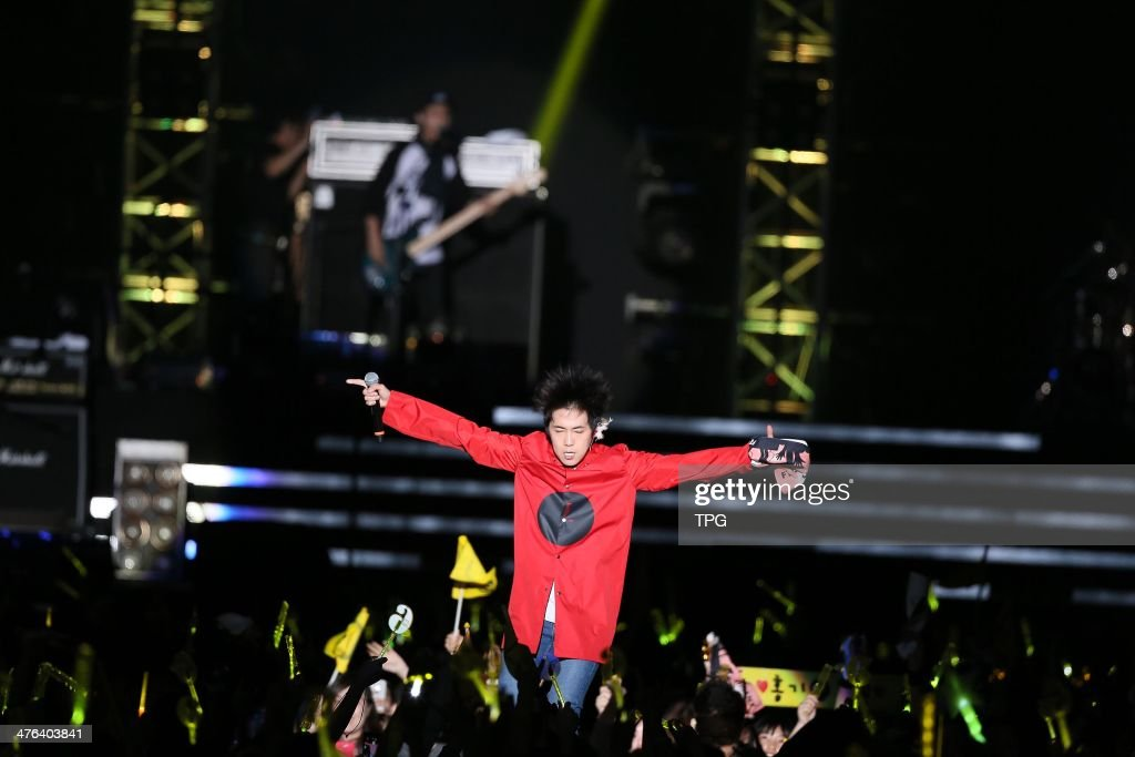 South Korean boy band FTISLAND perform at their concert on Friday February 282014 in TaipeiChina