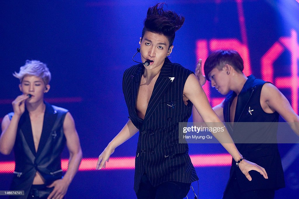 South Korean boy band Jeesu of Dalmatian performs on stage the MBC Music 'Show Champion' at AX Korea on June 19, 2012 in Seoul, South Korea.