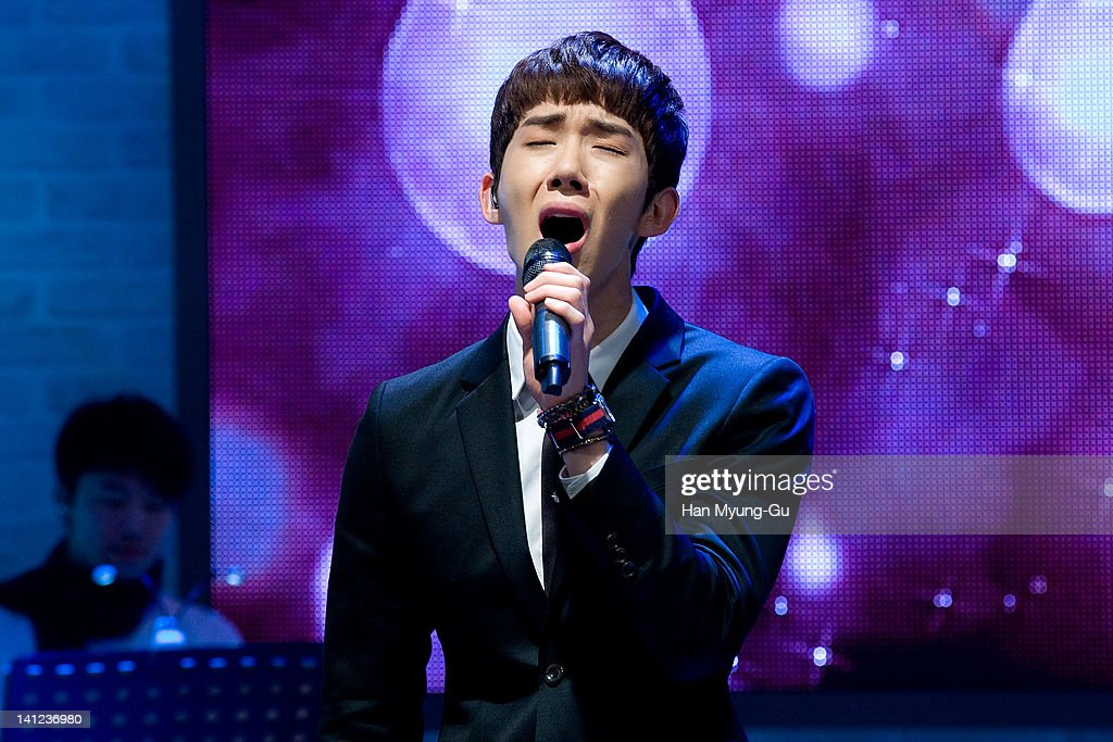 South Korean boy band Jo Kwon of 2AM performs live during their 2th mini album 'F.Scott Fitzgerald's Way Of Love' Showcase event at Ilchi Art Hall on March 13, 2012 in Seoul, South Korea.