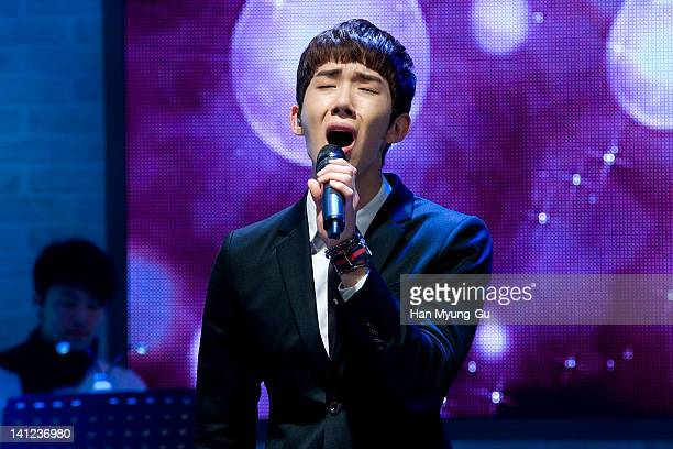South Korean boy band Jo Kwon of 2AM performs live during their 2th mini album 'FScott Fitzgerald's Way Of Love' Showcase event at Ilchi Art Hall on...