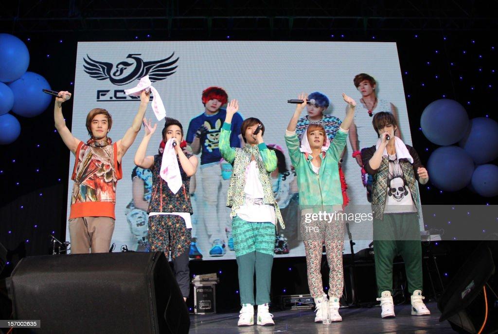 South Korean boy group F.CUZ held a concert on Saturday November 24, 2012 in Taipei, Taiwan, China.