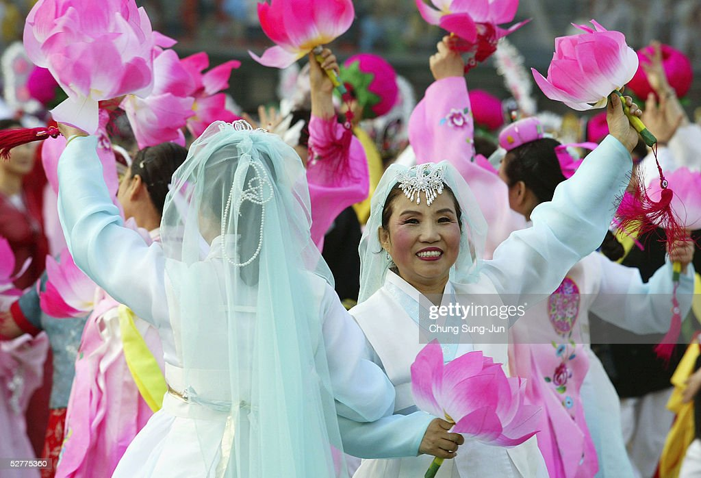 South Korean Buddhists perform as they celebrate the forthcoming birthday of Buddha on May 8 2005 in Seoul South Korea According to historians Buddha...