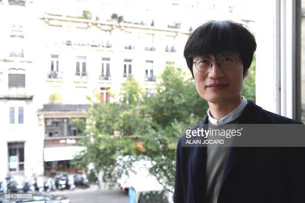 South Korean businessman and founder of the Korean internet group NaverKorelya HaeJin Lee poses for a photo session in Paris on October 19 2017 For...