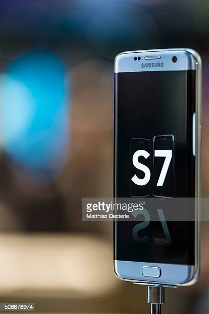 South Korean company Samsung presents the new Galaxy S7 Edge latest flagship handsets in its range at the annual Mobile World Congress one of the...