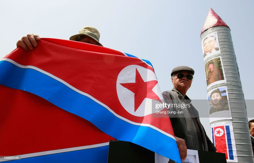 South Korean conservative protesters participate in a rally against North Korea on May 20, 2010 in Seoul, South Korea. The multinational investigation team concluded that North Korea's torpedo sank the South Korean warship on March 26, killing 46 sailors.