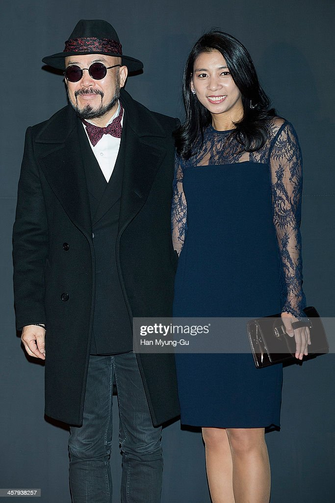 South Korean designer Lie Sang-Bong and National Assembly of the Saenuri Party, Jasmine Lee attend The 28th Korea Best Dresser 2013 Swan Awards at Shilla Hotel on December 19, 2013 in Seoul, South Korea.