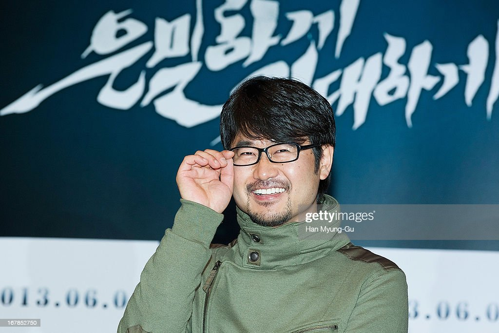 South Korean director Jang Cheol-Soo attends during the 'Secretly Greatly' Showcase at Konkuk University on April 30, 2013 in Seoul, South Korea. The film will open on June 05 in South Korea.