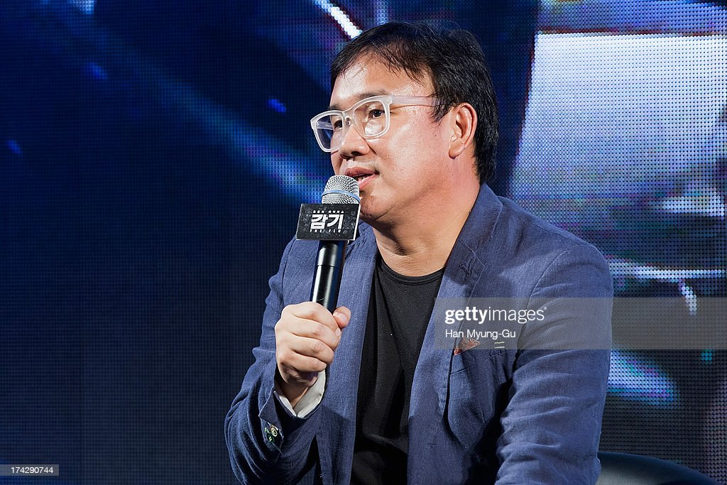 South Korean director Kim Sung-Su (Kim Sung-Soo) attends during 'the Flu' Music Showcase at Platoon Kunsthalle on July 22, 2013 in Seoul, South Korea. The film will open on August 15 in South Korea.
