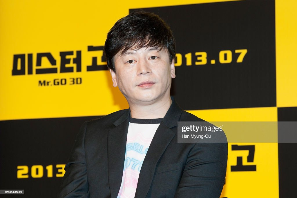 South Korean director Kim Yong-Hwa attends during a promotional event for the 'Mr. Go' Showcase at the Westin Chosun Hotel on May 29, 2013 in Seoul, South Korea. The film will open in July in South Korea.
